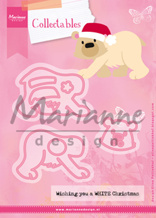 Ecstasy Crafts Marianne Design: Collectables Die Set - Eline's Polar Bear