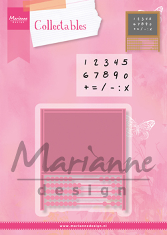 Ecstasy Crafts Marianne Design: Collectables Die & Stamp Set - Abacus