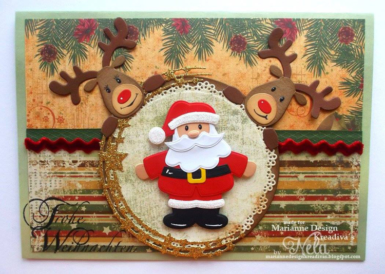 Ecstasy Crafts Marianne Design: Collectables Die & Stamp Set - Eline's Santa