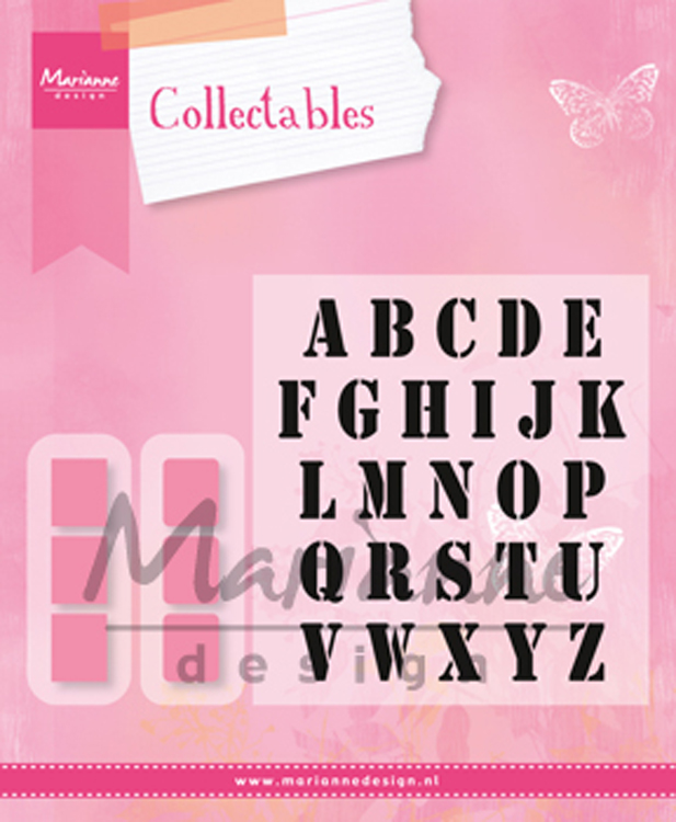 Marianne Design : Collectables Die & Stamp Set - Alphabet Set