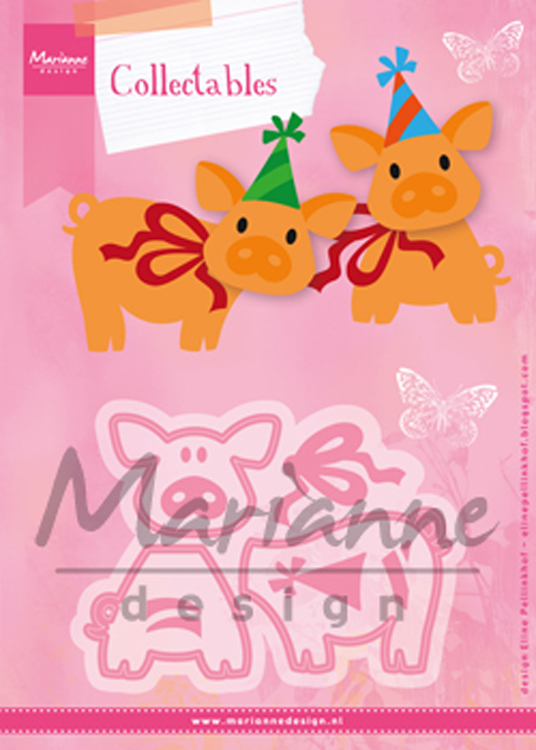 Ecstasy Crafts Marianne Design: Collectables Die Set - Eline's Piglet