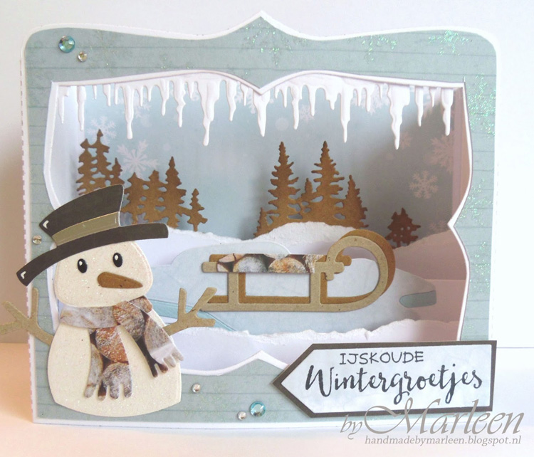 Ecstasy Crafts Marianne Design: Collectables Die Set - Eline's Snowman