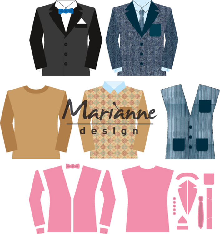 Ecstasy Crafts Marianne Design Men's Wardrobe