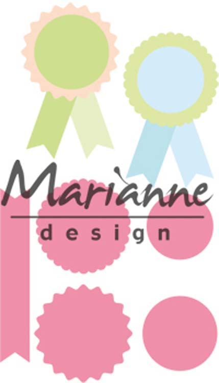 Marianne Design Collectables Rosettes & Labels
