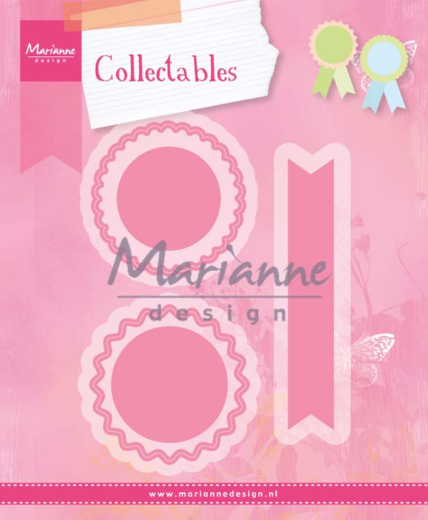 Ecstasy Crafts Marianne Design Collectables Rosettes & Labels