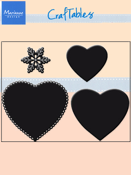 Ecstasy Crafts Marianne Design: Craftables Dies - Hearts (set Of 3)+ Snowflake
