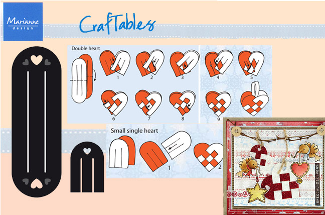 Ecstasy Crafts Marianne Design: Craftables Dies - Scandinavian Hearts