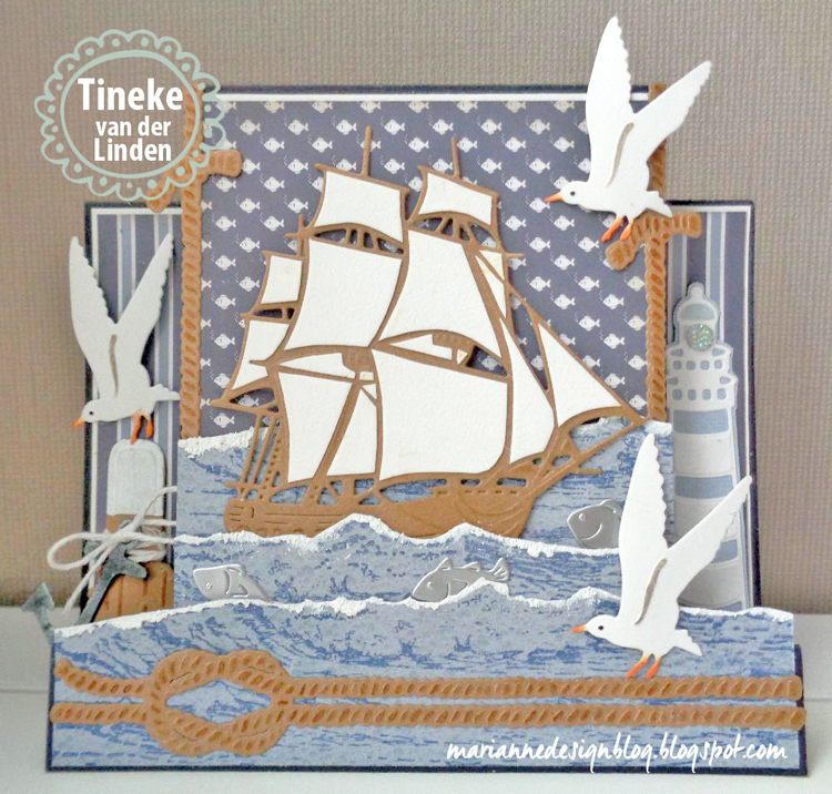 Ecstasy Crafts Marianne Design: Tiny's Folding Dies - Nautical