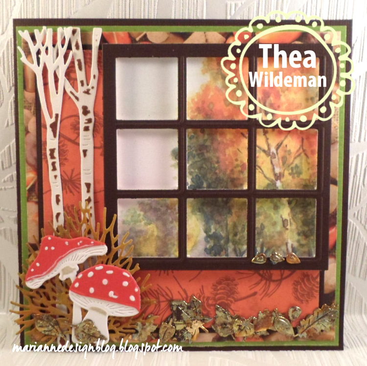 Ecstasy Crafts Marianne Design: Craftables Dies - Tiny's Trees Birch