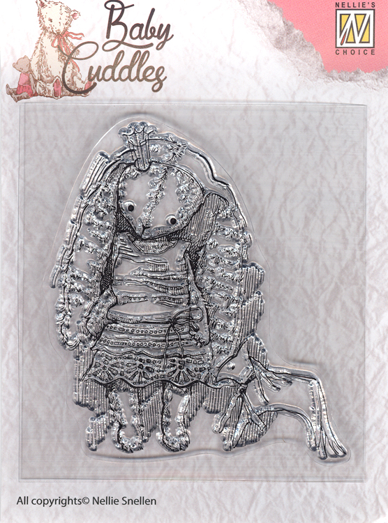 Clear Stamp - Baby Cuddles - Princess Rabbit