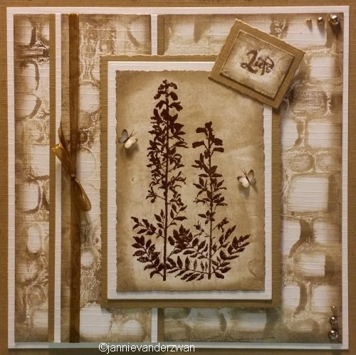 Nellie's Choice Clear Stamps Condolence Flowers -Leafy Stems