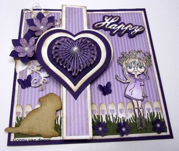 Ecstasy Crafts Clear Stamp Lovely Lena - Lena, Floral Wreath