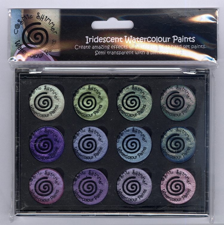 Ecstasy Crafts Cosmic Shimmer Iridescent Watercolour Pallet Set - Summer Garden