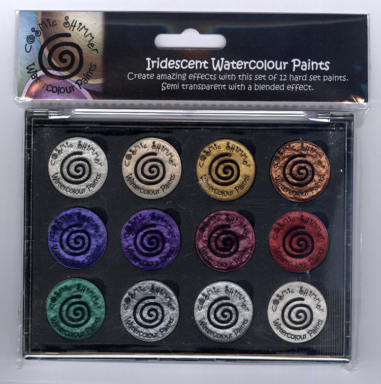 Ecstasy Crafts Cosmic Shimmer Iridescent Watercolour Pallet Set - Christmas