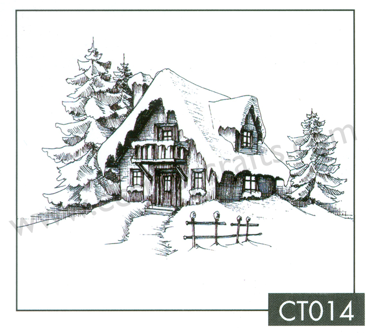 Nellie's Choice Clear Stamp - Christmas Time - Snowy House