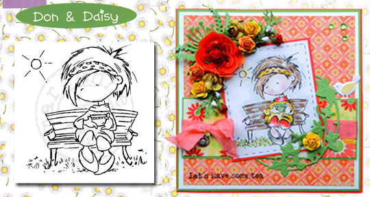 Ecstasy Crafts Clear Stamps - Don & Daisy - In The Park