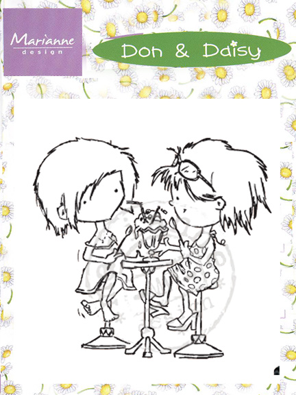 Ecstasy Crafts Clear Stamps - Don & Daisy-Sharing Ice Cream Soda