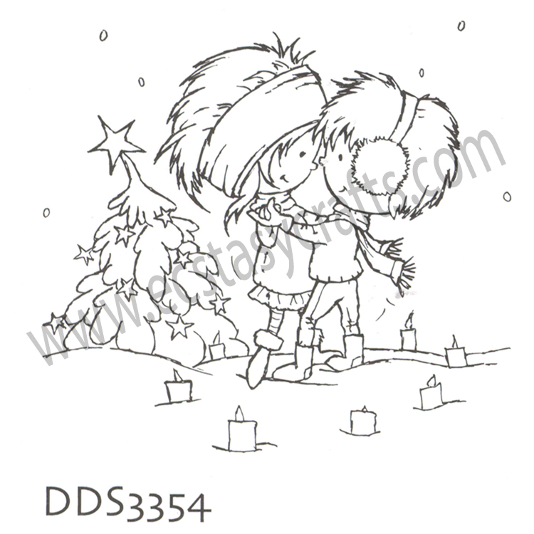 Ecstasy Crafts Clear Stamp - Don & Daisy - A Christmas Romance