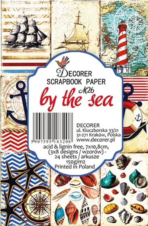 "Decorer 2.75"" X 4.25"" Scrapbook Set Mini - By The Sea"