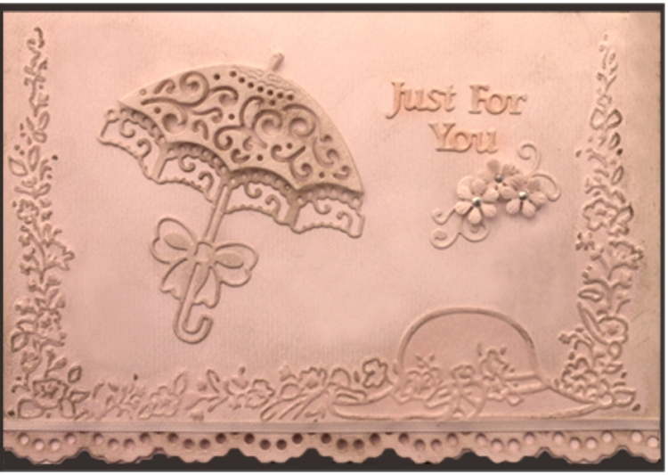 Embossing Folder - Floral Melody (hat)  Size 5 X 7