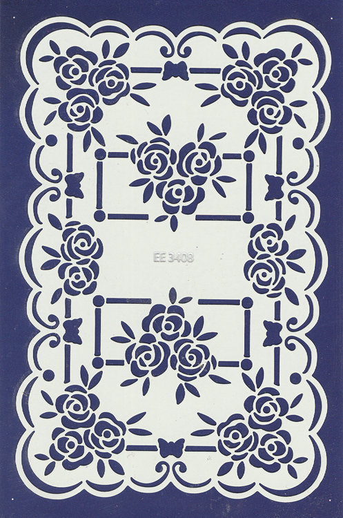 Stencils English Embossing Stencil - Roses (ee3408)