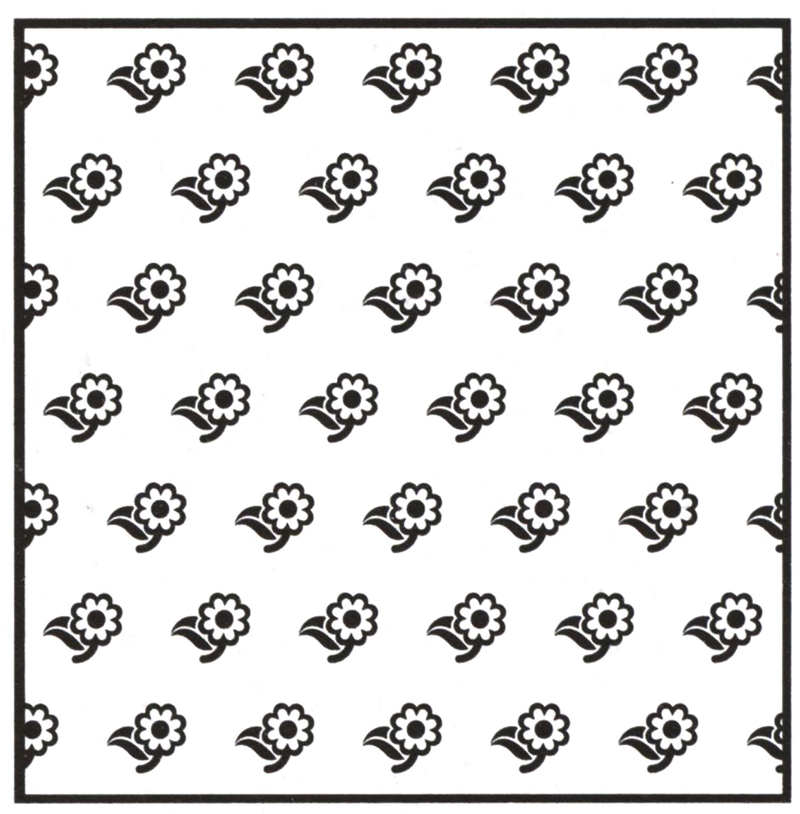 Ecstasy Crafts Background Embossing Folder - Flowers 2