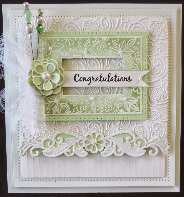 Creative Expressions Embossing Folder - A4 - Swirling Hearts