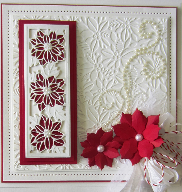Creative Expressions Embossing Folder A4 - Contemporary Poinsettia