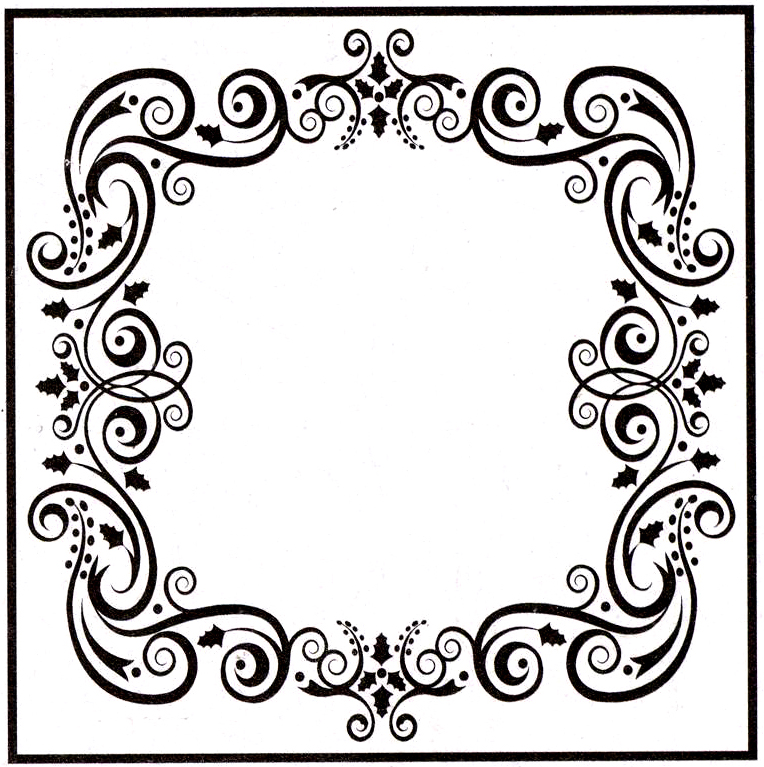 Ecstasy Crafts Embossing Folder - Christmas Square-1