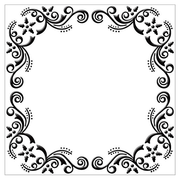Ecstasy Crafts Embossing Folder - Flower Christmas Frame (square)