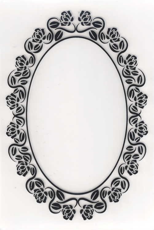 Nellie's Choice Embossing Folder - Decorative Oval Frame