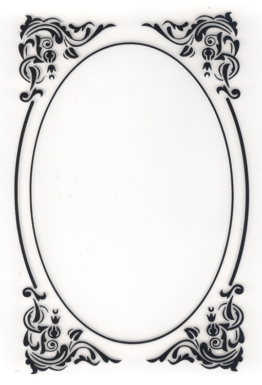Ecstasy Crafts Nellie's Choice Embossing Folder - Decorative Oval Corner