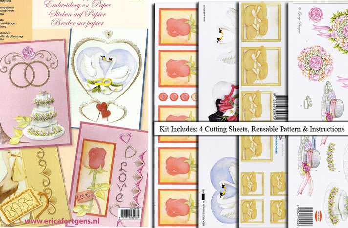 Ecstasy Crafts Embroidery & 3D Paper Kit-Special Occasions