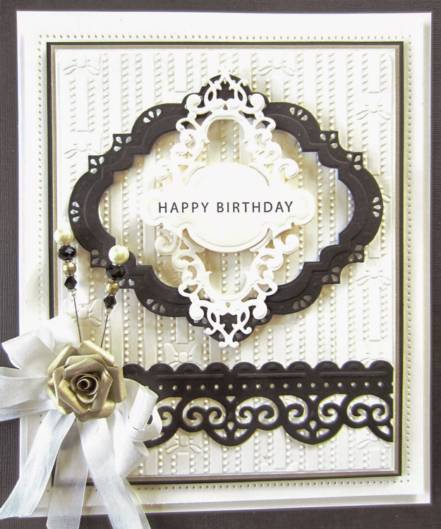 Creative Expressions Embossing Folder A4 Size - Rows Of Bows