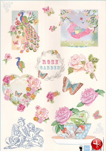 Ecstasy Crafts Cutting Print - Rose Garden