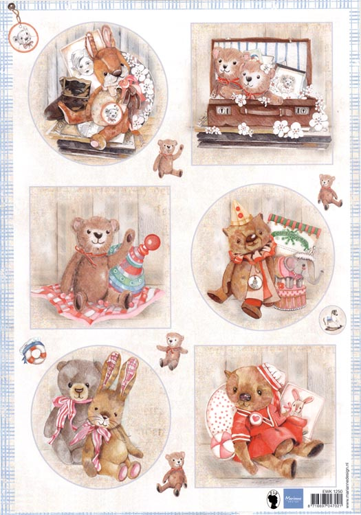 Cutting Sheet: Teddy Bears 2