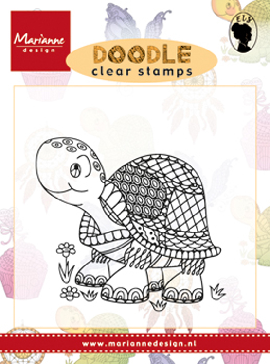 Marianne Design Clear Stamp: Doodle Turtle