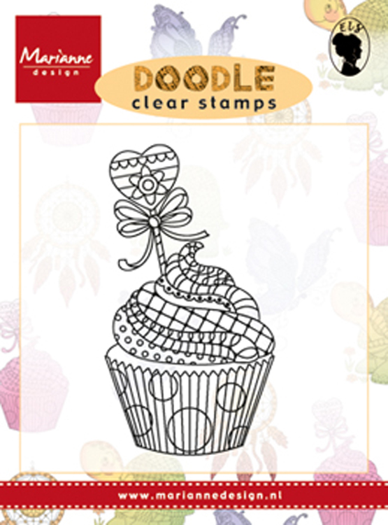 Marianne Design Clear Stamp: Doodle Cupcake