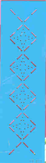 Ecstasy Crafts Fantasie Border Template - Diamonds With Stars