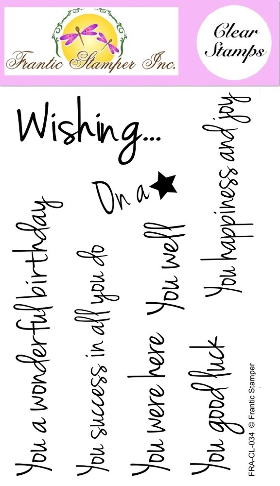 Clear Stamp Set - Wishing