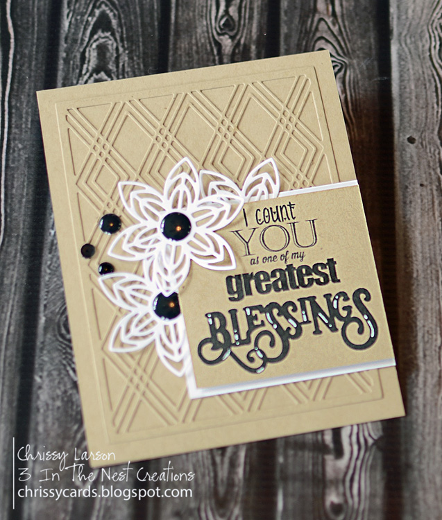 Ecstasy Crafts Frantic Stamper Precision Die - Diamond Galore Card Panel
