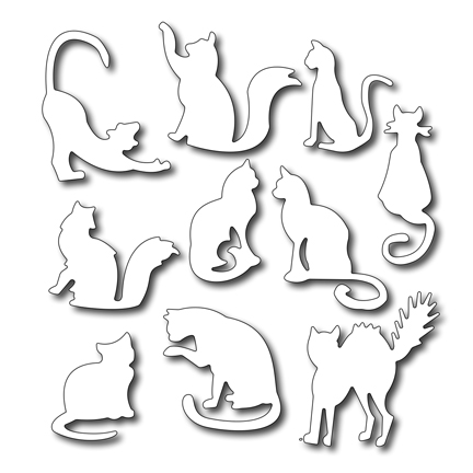 Cutting Die - Ten Fun Felines