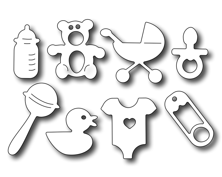 Cutting Die - Baby Icons (8 Pieces)