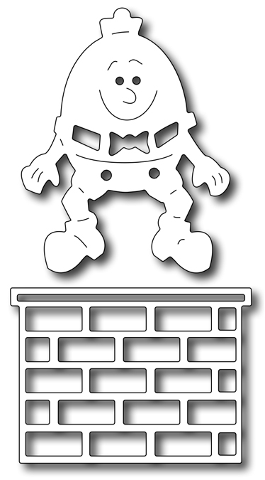 Precision Die - Humpty Dumpty & Wall (set Of 2)