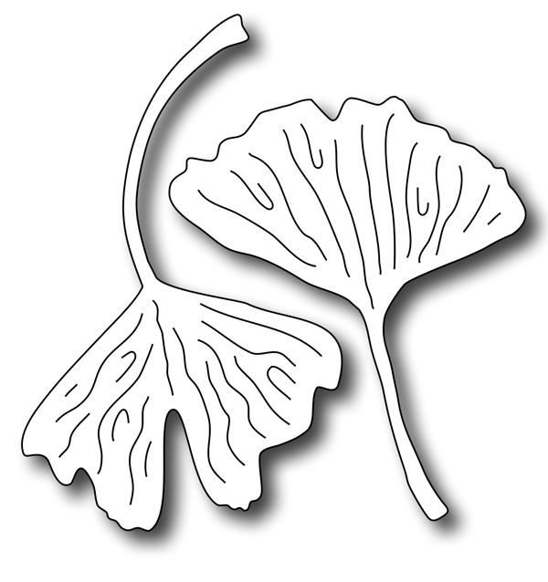 Precision Die - Gingko Leaves (set Of 2 Dies)