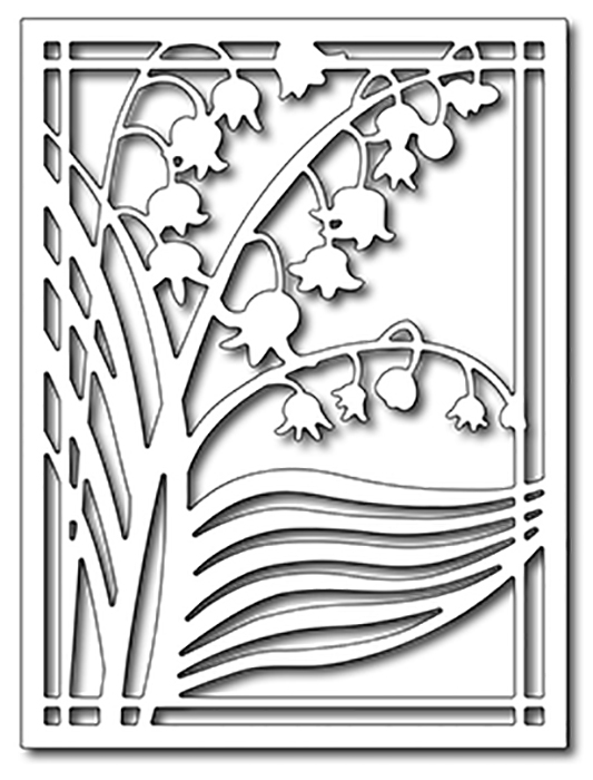 Precision Die - Lily Of The Valley Card Panel
