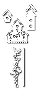 Precision Die - Garden Birdhouses (set Of 7 Dies)