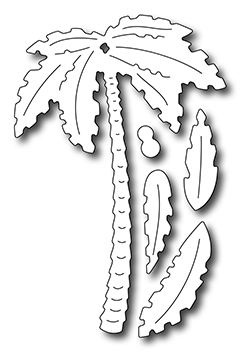 Precision Die - Tall Palm Tree W/ Fronds (set Of 5 Dies)