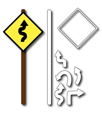 Precision Die - Road Signs (set Of 7 Dies)