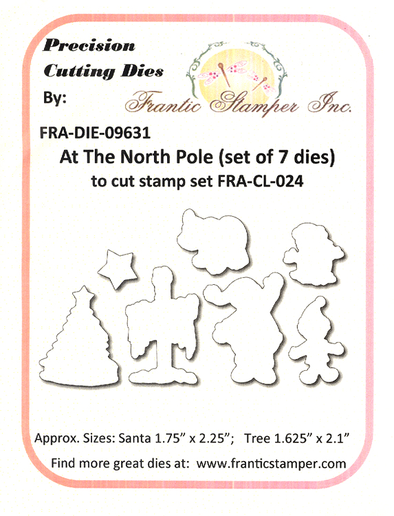 Ecstasy Crafts Frantic Stamper Precision Die - At The North Pole